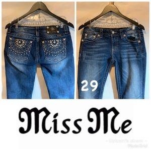 Miss me jeans 29 skinny ladies euc